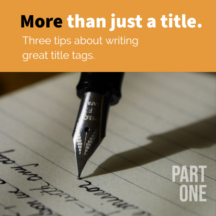 More than just a title tag. 3 ways to optimize the title tag for greatness.