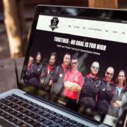 Nufire Marketing website portfolio, website design, Built on Bravery