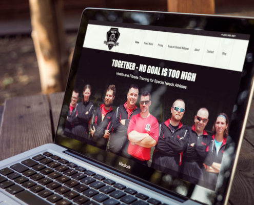 Nufire Marketing website portfolio, website design, Built on Bravery